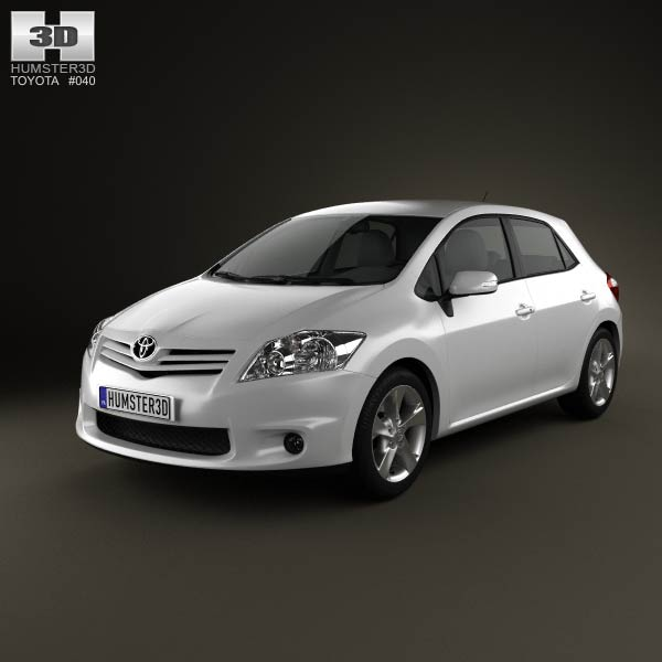 Toyota Auris 2012 3d car model