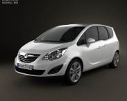 3D model of Vauxhall Meriva 2011