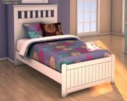3D model of Ashley Lulu Twin Panel Bed