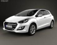 3D model of Hyundai i30 (Elantra Touring) hatchback 2013