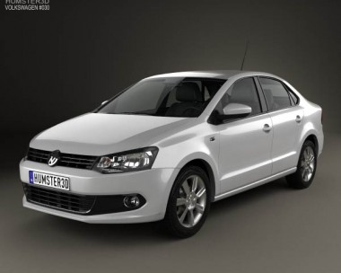 3D model of Volkswagen Polo sedan 2012