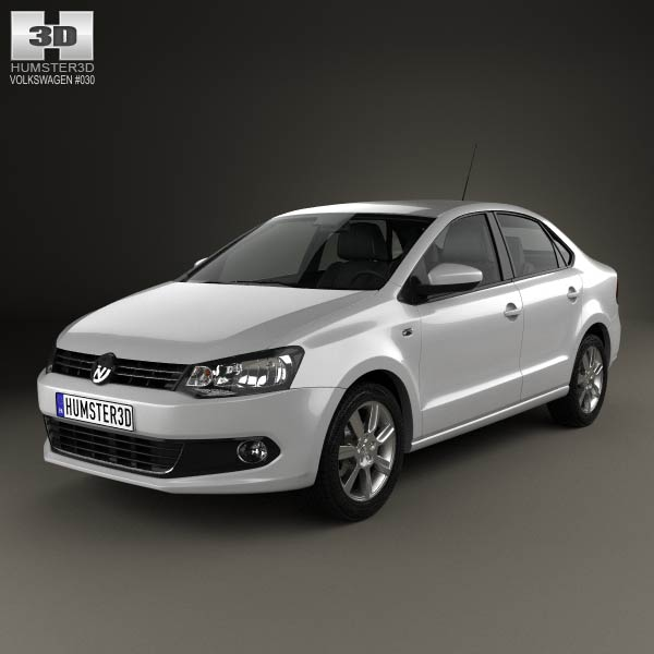 Volkswagen Polo sedan 2012 3d model