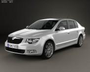 3D model of Skoda Superb Sedan 2011