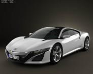 3D model of Acura NSX 2012