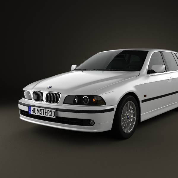 bmw 5 series e39 touring 1995 2003 3d model humster3d. Black Bedroom Furniture Sets. Home Design Ideas