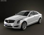 3D model of Cadillac ATS 2013
