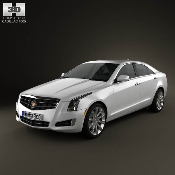 Cadillac ATS 2013 3d car model