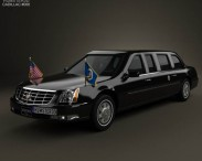 3D model of Cadillac DTS Limousine 2005