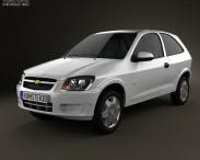 3D model of Chevrolet Celta 3-door hatchback 2011