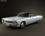 3D model of Chrysler Imperial LeBaron 4-door Hardtop 1971