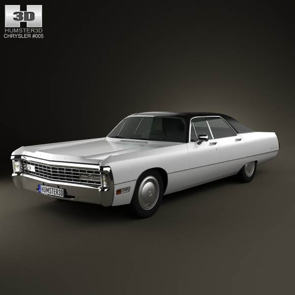 Chrysler Imperial LeBaron 4-door Hardtop 1971 3d car model