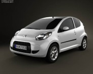 3D model of Citroen C1 3-door 2012