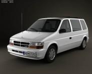 3D model of Dodge Caravan 1990