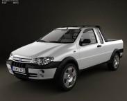 3D model of Fiat Strada III 2004