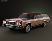 3D model of Ford Country Squire 1979-1991