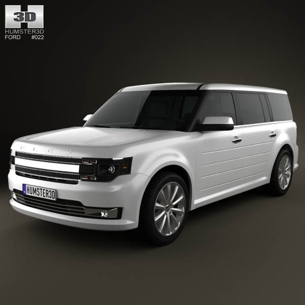 Ford Flex 2013 3d car model