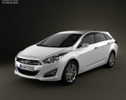 3D model of Hyundai i40 Tourer 2012