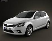 3D model of Kia Ceed Hatchback 5-door 2011