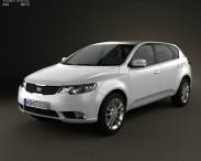3D model of Kia Forte (Cerato, Naza) hatchback 5-door 2012