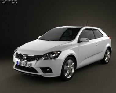 3D model of Kia Pro Ceed 3-door hatchback 2011