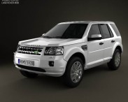 3D model of Land Rover Freelander 2 (LR2)