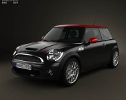 3D model of Mini John Cooper Works Hardtop with HQ Interior 2011