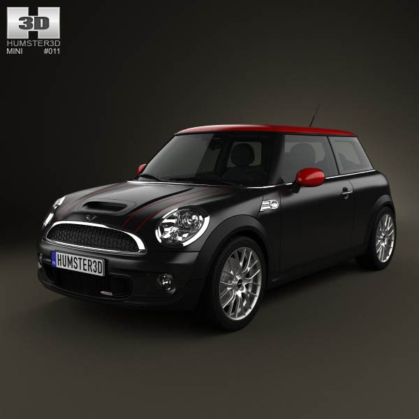 Mini John Cooper Works Hardtop with HQ Interior 2011 3d car model