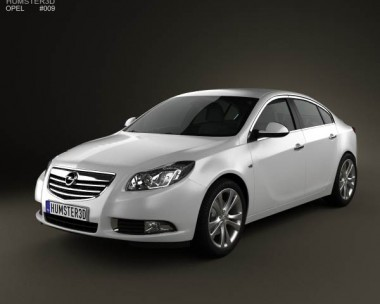 3D model of Opel Insignia Sedan 2009