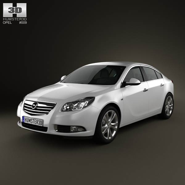 Opel Insignia Sedan 2009 3d car model