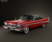 3D model of Plymouth Fury coupe Christine 1958