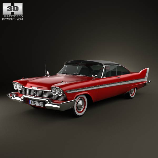 Plymouth Fury coupe Christine 1958 3d car model