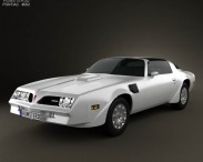 3D model of Pontiac Firebird Trans Am 1977