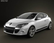 3D model of Renault Megane Coupe 2011