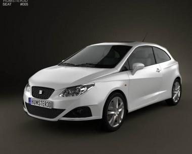 3D model of Seat Ibiza Sport Coupe 3-door 2011