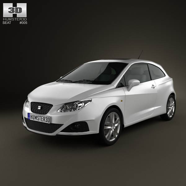 seat ibiza sport coupe 3 door 2011 3d model humster3d. Black Bedroom Furniture Sets. Home Design Ideas