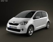 3D model of Skoda Citigo 5-door 2013