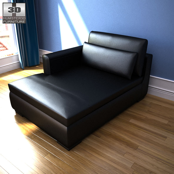 Ikea smogen chaise longue 3d model humster3d for Arild chaise longue