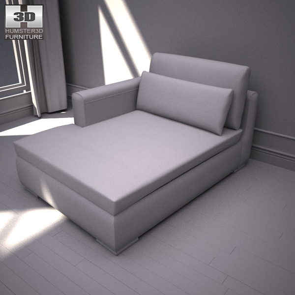 Ikea smogen chaise longue 3d model humster3d for Chaise longue jardin ikea