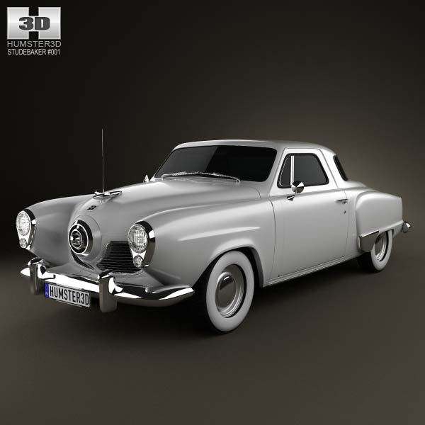 Studebaker Champion (Commander) hardtop 1951 3d car model