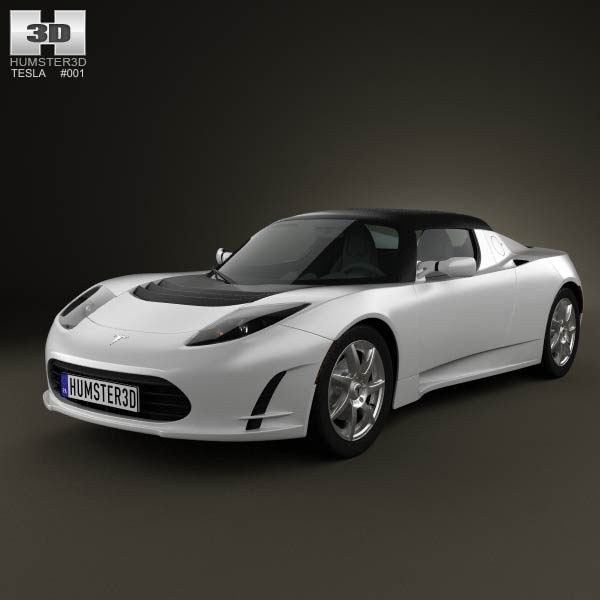 Tesla Roadster 2011 3d car model