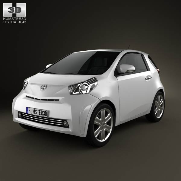 Toyota IQ 2009 3d car model