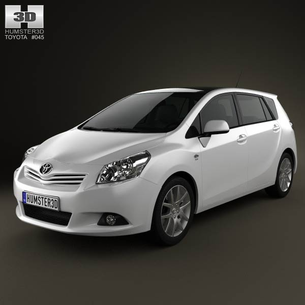 Toyota Verso (E'Z) 2012 3d car model