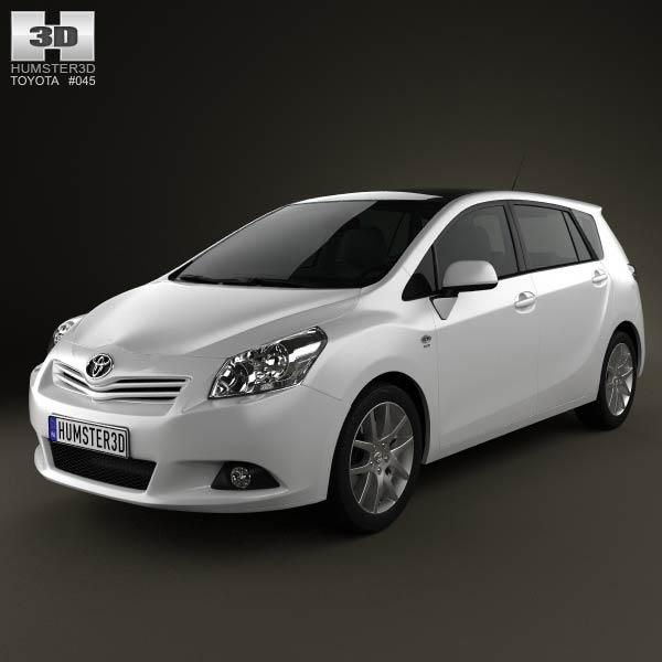 3D model of Toyota Verso (E'Z) 2012