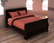 3D model of Ashley Huey Vineyard Twin Sleigh Headboard Bed