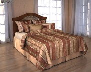 3D model of Ashley Fairbrooks Estate Panel Bed
