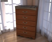 3D model of Ashley Fairbrooks Estate Panel Chest