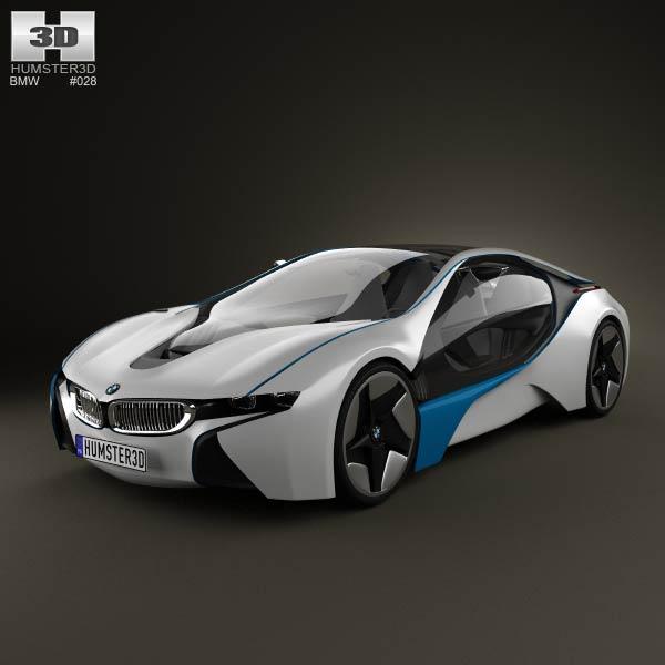 3D model of BMW i8 concept 2009