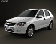 3D model of Chevrolet Celta 5-door hatchback 2011