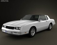 3D model of Chevrolet Monte Carlo SS 1986
