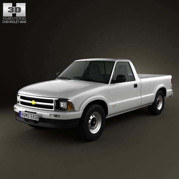3D model of Chevrolet S10 Single Cab Long Bed 1994